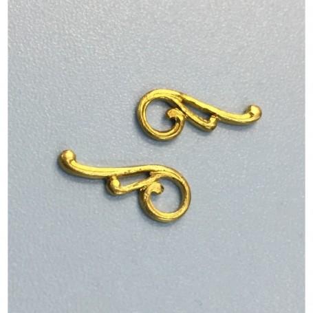 Amati 5530.06 Dekoration, metall, mått 13 x 6 mm, 5 par