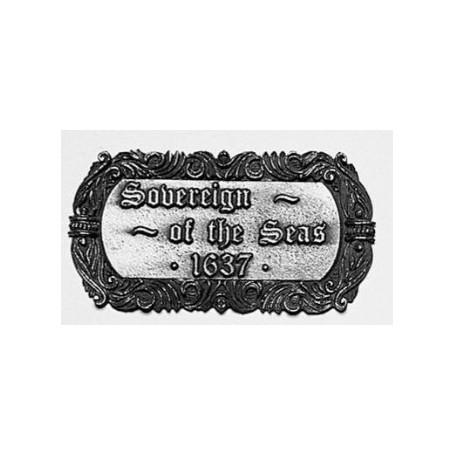 Amati 5621.02S Plakett, metall, Sovereign of the Seas 1637, mått 70 x 40 mm, 1 st