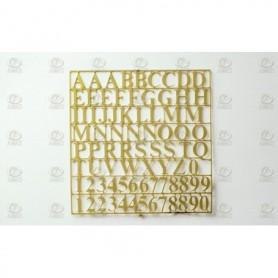 Amati 5650.02 Bokstäver, fotoetsad mässing, höjd på bokstäver 10 mm, 1 ark