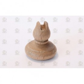 Amati 5685.02 Piedestal, trä, höjd 28 mm, 2 st