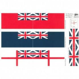 Amati 5700.17 Flaggor, självhäftande tyg, för Royal Navy 1700-1800-talet, 1 set