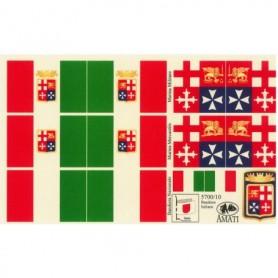 Amati 5700.10 Flaggor, självhäftande tyg, för Bandiere Marina Italiana, 1 set