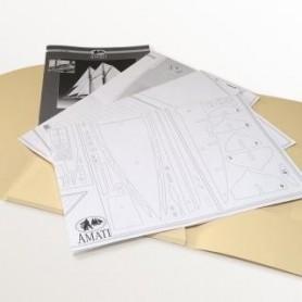 Amati 1054 Komplett set med ritning och byggbeskrivning för Amati Amerigo Vespucci