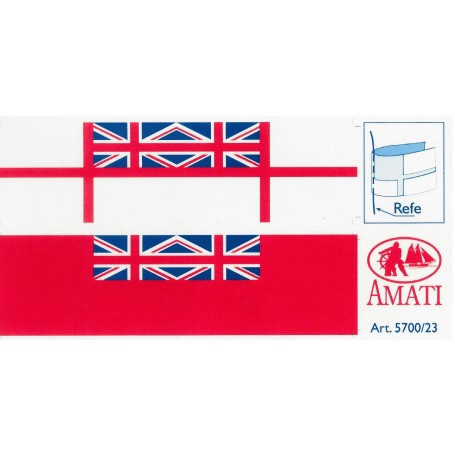 Amati 5700.23 Flaggor, självhäftande tyg, för Royal Navy, modern typ, 1 set
