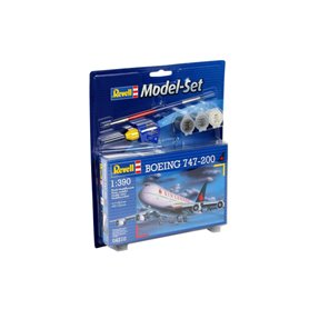 "Revell 64210 Model Set Flygplan Boeing 747-200 ""Gift Set"""