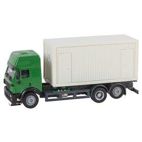 Faller 161480 Lorry MB SK'94 Building site Container (HERPA), med drivning för Faller Car System