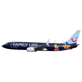"""Herpa 611145 Flygplan Jetairfly Boeing 737-800 """"Family Life Hotels"""""""