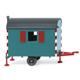 Wiking 65607 Site trailer - water blue