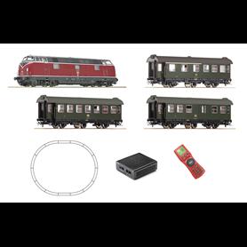 Roco 51316 Digitalt Startset typ DB Diesellok och 3 personvagnar