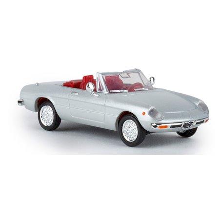 Brekina 29602 Alfa Romeo Spider 2000 Fastback, argento, silver, TD