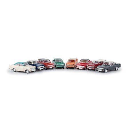 """Brekina 90471 Set med 8 Opel Kadett A """"Economy"""" """"Von Drummer"""""""