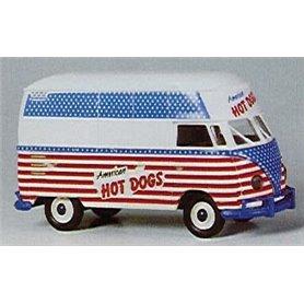 "Brekina 32602 VW Skåp T1b ""American HOT DOGS"""