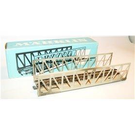 Märklin 7162 Fackverksbro i metall, längd 180 mm, höjd 40 mm