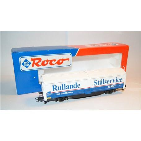 "Roco 46639 Godsvagn 25 RIV 74 571 1 5461-1 Tbis typ SJ ""Rullande Stålservice - SKF"""