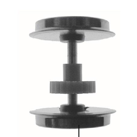 Roco 123729 Drivaxel, DC, med kugghjul utan slirskydd, passar för bl.a. Roco 63875, 69875 EL16