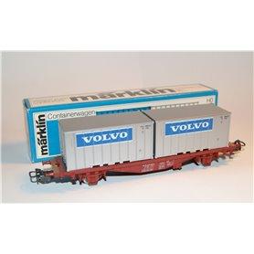 """Märklin 4765 Containervagn 42-74-440 4616-8 Lgjs typ SJ """"Volvo"""""""