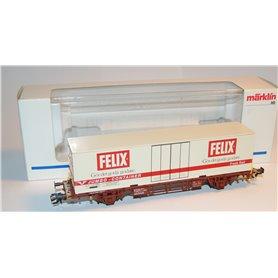 "Märklin 47721 Containervagn 42-74-443 1 007-7 Lgjns-W typ SJ ""Felix"""