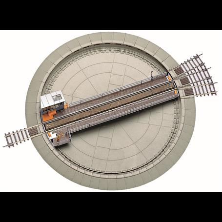 Roco 42615 Vändskiva, elektrisk, passar både likström 2-räls system och Märklin 3-räls system