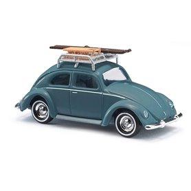 Busch 42734 VW Bubbla med takräcke, lastat med skidor och kälke