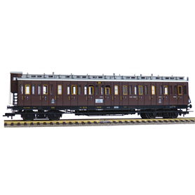 Fleischmann 568604 3rd class compartment coach with tail end indicators type CC, K.P.E.V.