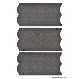 Vollmer 48240 Street plate cobblestone, 3 pieces, L 15 x W 8 cm