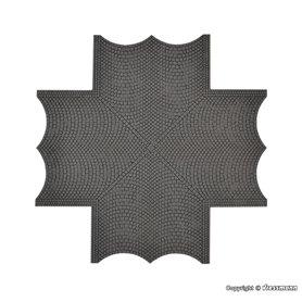 Vollmer 48241 Street plate cobblestone, x-crossing, L 15 x W 15 cm