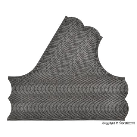 Vollmer 48242 Street plate cobblestone, 60° intersection, L 22 x W 19,5 cm