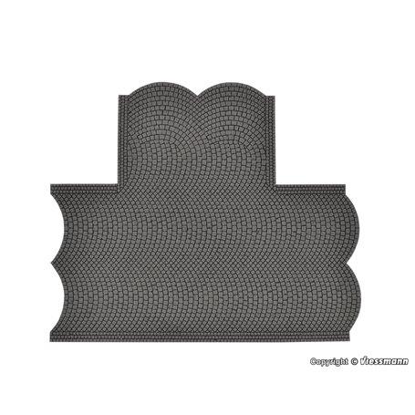 Vollmer 48243 Street plate cobblestone, 90° intersection, L 15,5 x W 13 cm