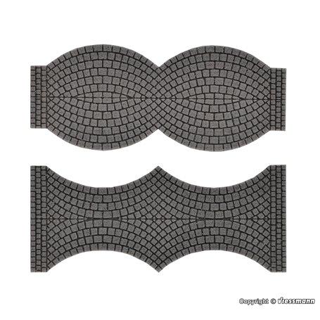 Vollmer 48244 Street plate cobblestone, 2 end pieces each, L 1,7 cm x W 8 cm