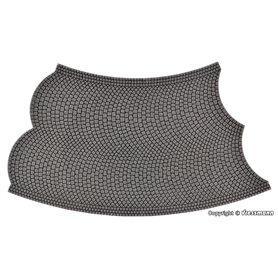 Vollmer 48245 Street plate cobblestone, 45°- curve, radius 12 cm