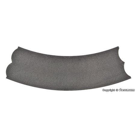Vollmer 48247 Street plate cobblestone, 45°-curve, radius 30 cm