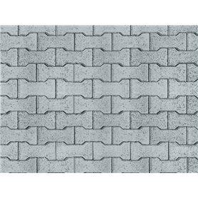 Vollmer 46054 Street plate concrete stone of cardboard, 25 x 12,5 cm