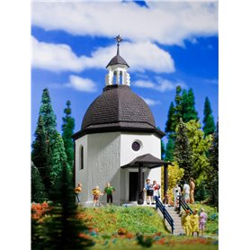 Vollmer 47612 Silent Night Memorial Chapel with lighting and artificial snow, functional kit