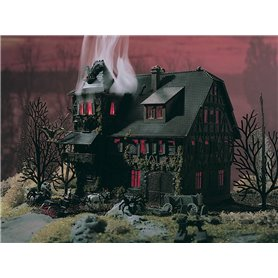 Vollmer 47679 Villa Vampire with red flickering lighting and colour tablets, functional kit