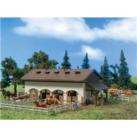 Vollmer 47719 Horse stable with horses