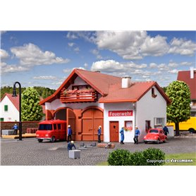 Vollmer 47785 Fire station 112, two track