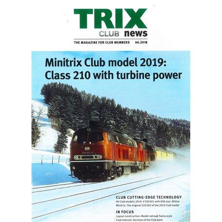 Trix CLUB62018 Trix Club 06/2018, magasin från Trix, 23 sidor i färg, engelska