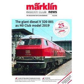 Märklin INS62018 Märklin Insider 06/2018, magasin från Märklin, 23 sidor
