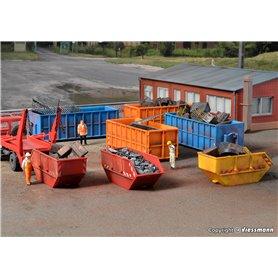 Kibri 38648 Containersortiment i olika färger
