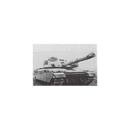Trident 80115 Tanks Challenger Main Battle Tank, 120mm kanon, byggsats i vitmetall, omålad
