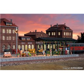 Kibri 39564 Platform Zell an der Mosel with LED lighting, functional kit