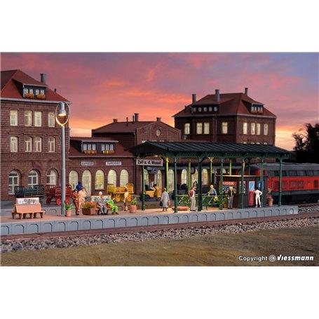Kibri 39564 Platform Zell an der Mosel with LED lighting, functional kit