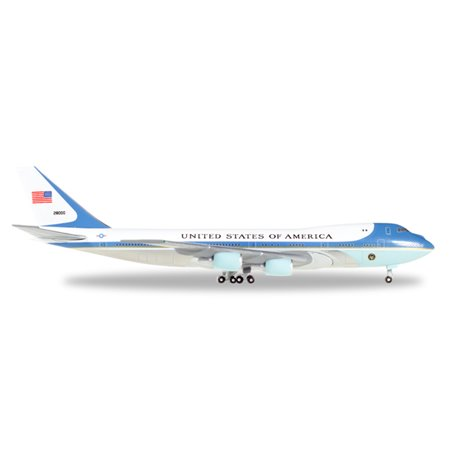 """Herpa 502511-002 Flygplan United States Boeing 747-200 """"Air Force One"""""""