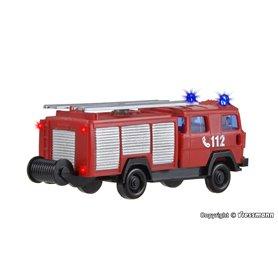 """Viessmann 1843 Brandbil """"Feuerwehr LF 16"""" med belysning och blålysen"""