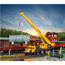 Kibri 10558 Two-way mobile crane LTM 1050-4, GleisBau, with LED-lighting, functional kit
