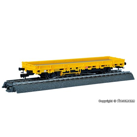 Viessmann 2316 Low side car, yellow, with drive unit, functional model for 3 rail version