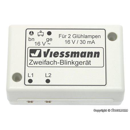 Viessmann 5037 N Double blinker unit with 2 blue bulbs