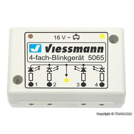 Viessmann 5065 4-fold indicator blinking electronics for St. Andrew`s crosses
