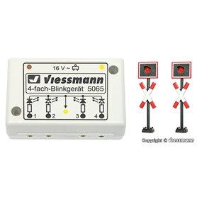 Viessmann 5801 Varningskors, 2 st med kontrollbox