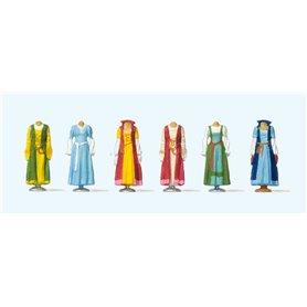 Preiser 24767 Medetidskläder, 6 st
